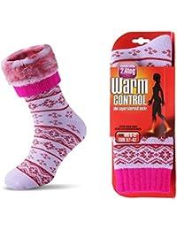 JARSEEN Térmicos de Invierno Calcetines de Lana Super Calor Gruesa Calentar Suave Cómodo Calcetines de Mujer