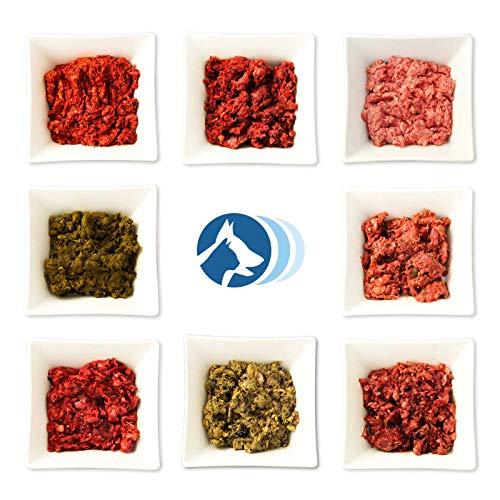 Frostfutter Perleberg 12Kg Highlight Paket inklusive Grüner Pansen, Blättermagen, Power-Mix, Rindfleisch-Mix mit Pansen, Rindfleisch-Mix (Gulasch), Huhn (gewolft)