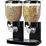 Classic Distributeur de céréales pour nourriture sèche épices grains de café–Livré en simple/double conteneurs en noir/blanc fraîcheur préservée Double Black
