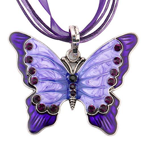 ade5b60227 Longra Cadena del collar del colgante llano de la mariposa de la joyería