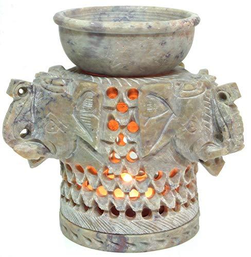 Guru-Shop Lámpara de Perfume India, Difusor de Aceites Esenciales, Portavelas de té...