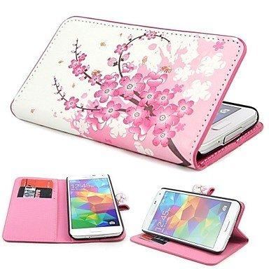 CASE FOR SAMSUNG Handy schützen, Mini Elegantes Blumen-Muster PU-Leder Etui mit Magnetverschluss und Karten-Slot für Samsung S5 Mini G800 für Samsung (Kompatible Modellen : Galaxy S5 Mini)