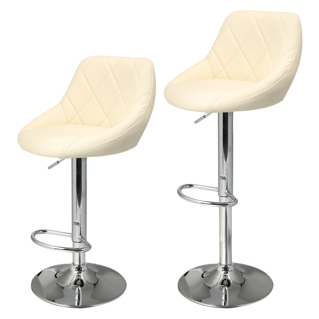 homdox bar stools synthetic leather adjustable swivel bar chairs  - homdox bar stools synthetic leather adjustable swivel bar chairs for homekitchen counter set of  stools amazoncouk kitchen  home