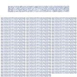 Mehrondo 60 Stück Hellgraue Filzstreifen Rohlinge FS203HG, 300x30x3 mm vorgeschnitten — ideal zum kreieren von Schlüsselanhänger und Schlüsselband