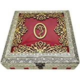 SARANGWARE Oxidised Wooden Design Dry Fruit Box With 6 Compartment (OXY130)