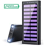 PLOCHY powerbank 24000mah solar charger with light