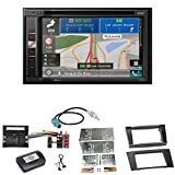 Pioneer AVIC-F980DAB Navigation CarPlay Digitalradio DAB+ Bluetooth USB Autoradio Touchscreen Einbauset für Mercedes W211 CLS W219