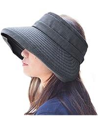 Casualbox Mujer Sombrero para El Sol Sombrero Compacto Plegable Ancho ala  Luz UV Verano 81ae9b0ab8f