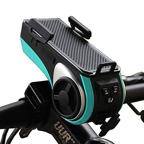 BP&S Fahrrad-Handyhalter, 6 in 1 Bluetooth-Lautsprecher Mobile Stromversorgung Zwei Wasserdichte Telefonhalterung/Reiten/Klettern/Camping.