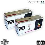 PACK 2 X CARTUCHOS DE TONER NEGROS COMPATIBLES SP201 BK PARA IMPRESORA RICOH Aficio SP 203S