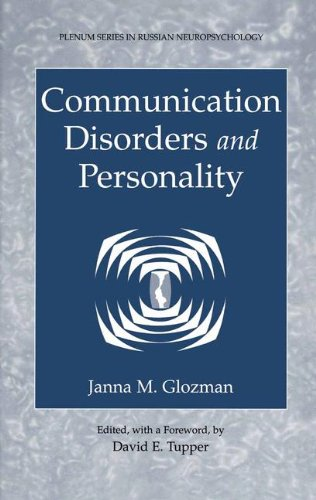 2 Plenum (Communication Disorders and Personality (Plenum Series in Russian Neuropsychology, Band 2))