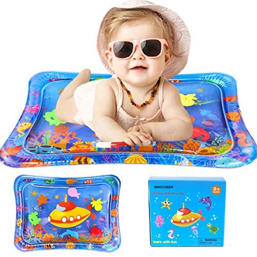 INNOCHEER Wassermatte Baby, Aufblasbare Baby Wasser-Spielmatte für Kleinkinder, Baby Spielzeuge 3 4 5 6 Monate - Perfektes Sensorisches Spielzeug für Baby Frühe Entwicklung Aktivitätszentren