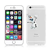 Simra Disney La Reine des neiges Transparente Clera TPU Soft Coque pour Apple iPhone...