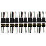 Larcele 10 Stück Wasserdichte Elektrische Kabel Steckverbinder Stecker mit Draht QCLJQDX-01 (5 Pin)