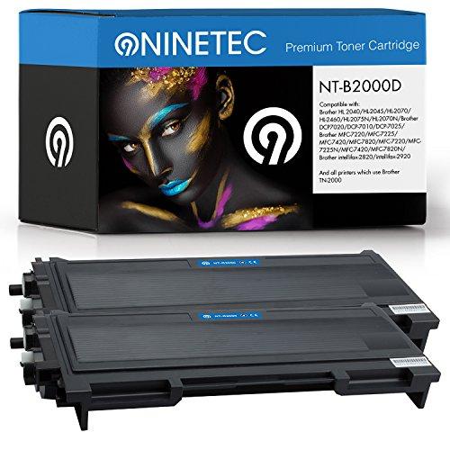Doppelpack 2X Original NINETEC NT-B2000D Toner-Kartuschen Black kompatibel mit Brother TN-2000 -