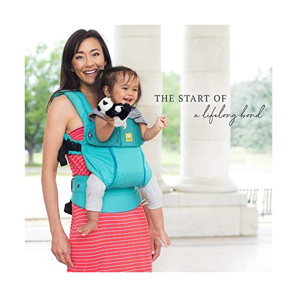 LÍLLÉbaby  Complete All Seasons 6-in-1 Baby Carrier, Carribean Sea Lillebaby With a temperature regulating breathable panel that unzips to encourage airflow in warm conditions and 6 carrying positions - Foetal, infant inward, outward, toddler inward, hip, back - The only carrier you'll ever need! Suitable from 3.2- 20kg (birth to approx. 4 years old), providing extended comfortable use for parent and child with no additional infant support required for new-borns - the ergonomic adjustable seat is acknowledged as 'hip-healthy' by the International Hip Dysplasia Institute Unique spacious head support with elasticated straps - soothes infants with gentle lulling motion and provides excellent support as children grow 5