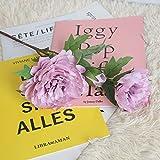 gaddrt Silk Flower Künstliche Seide gefälschte Blumen Pfingstrose Blumenhochzeit Blumenstrauß Braut Hortensie Dekor (lila)