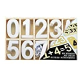DRULINE Buchstaben Holz Holzbuchstaben Zahlen shabby chic Alphabet Deko Basteln 50-78 tl (Zahlen Weiß)