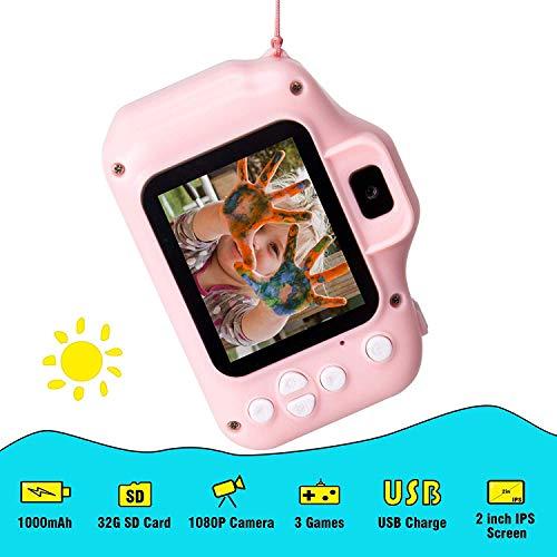 BABYFUN Cámara para niños, cámara de Video / Video 1080p HD, Pantalla LCD de 2 Pulgadas, Viene con una Tarjeta de Memoria 32G- 5