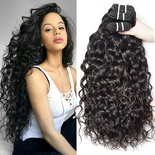 Yavida human hair 9a capelli brasiliani naturali extension capelli umani ricci extension capelli veri tessitura onda d'acqua 3 bundles 10 12 14 pollice
