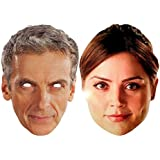Doctor Who - Twin Pack The Doctor & Companion - Card Face Mask