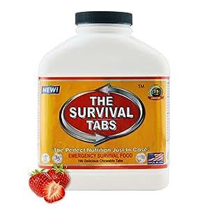 Survival Taben 15-day Prepper Lebensmitteln Ersatz für medizinische Ausrüstung Vorbereiter Emergency Food Supply glutenfrei und GVO-frei–Strawberry Geschmack