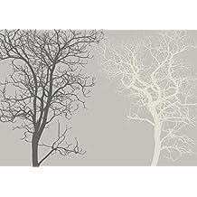 Fototapete Baum Grau