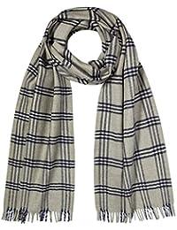 Artisanaux Tweed écossais Écharpe en laine Mérinos Gris
