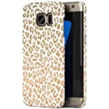 Stone Textured Cheetah Fur Pattern Samsung Galaxy S7 EDGE Snap-On Hard Plastic Protective Shell Case Cover Coque Housse Etui