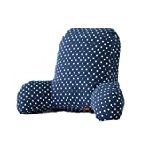 Colorfulworld Lendenkissen Stützkissen Bedrest Weich Plüsch Kissen für Auto, Bett, Büro-Stuhl und Sofa (65x40x26cm) (A-02)
