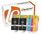 Bubprint 5 Druckerpatronen kompatibel für HP 920XL 920 XL für OfficeJet 6000 6500 6500A Plus 6500 Wireless 7000 7500A Schwarz Cyan Magenta Gelb