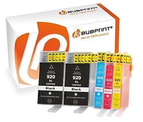 Bubprint 5 Druckerpatronen kompatibel für hp 920xl 920 xl officejet 6500 6000 6500a plus 7000 wireless 7500 a Series Multipack Patronen