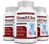 Flexacil Ultra - (3 bottles, 60 caps each) The Most Advanced Joint Repair and Pain Relief Formula - Premium Grade Glucosamine, Chondroitin, MSM, Hyaluronic acid and Omega 3 Fish Oil - Highest Potency Combination