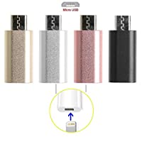 8-Pin Lightning Female to Micro USB Male Adapter Converter for Android Phone