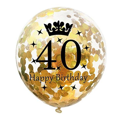mingfa. Y Ausverkauf. 5Stück Happy Birthday Party Krone Konfetti Latex Ballons für Hochzeit Verlobung Baby Dusche Geburtstag Decor, Latex, e, 12\'\'