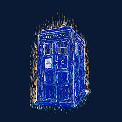Woodcutardis Van Gogh Style Tardis Doctor Who Women's Vest Navy Blue