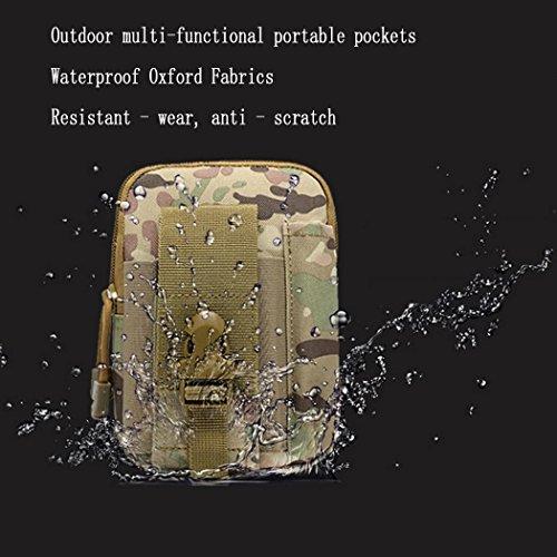 camouflage - serie nylon - taschen - multifunktionale wandern camping klettern kleine taille tasche gürtel bindung pack für beutel handy und werkzeug CP CAMOUFLAGE