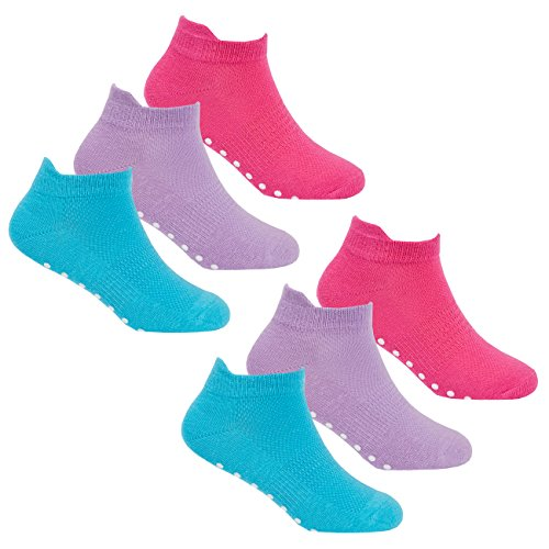 RedTag Active Girls Gripper Socks Non Slip Trainer Liners