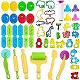 JWTOYZ Knetwerkzeug Kinder, 49Pcs Knete Werkzeug Knete Zubehör, Ausstechformen für Knete,...
