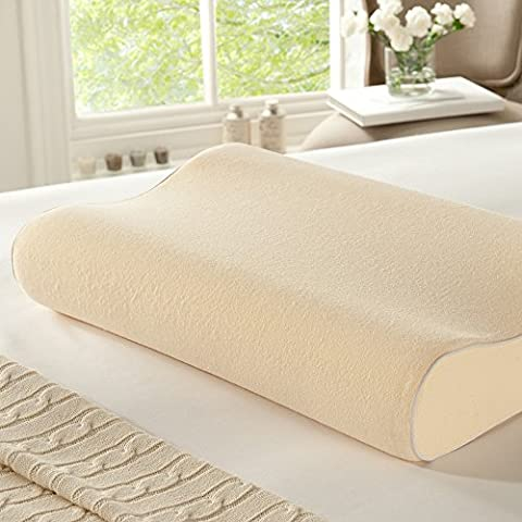 Memory Foam Pillow Contour Firm Head Neck Back Support Orthopedic Pillows by Highliving ®