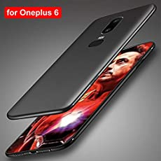 Oneplus 6 Case Oneplus6 Case Cover (VINNY ™) Silicone 6.28 inch Soft TPU Phone Case Compatible for Oneplus 6 Six One Plus 6 Case Back Cover -Black