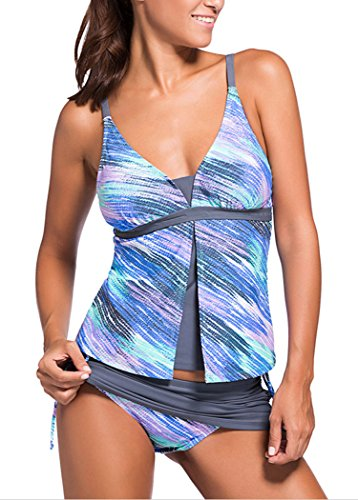 sankill-donne-estate-colorblock-tankini-top-set-di-fondo-swimsuit-bikini-2-pezzi
