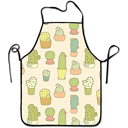 Funny Unisex Character Kitchen Art Graphic Flower Chef Aprons,Easy Clean Adult Cooking Guide Apron,Waterproof - Denim-guide