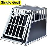 Delman Alu Hundetransportbox stabile Ellipsenrohren als Gitter 10-2002