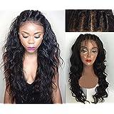 Sunwell 6A Grade Brazilian Virgin Human Hair Glueless Full Lace Wigs For Black Women NEW DESIGN - Wet & Wavy, (Natural Color, 14) by Sunwell(TM)