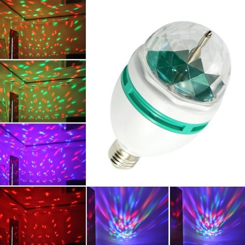 GB LED Crystal Stage Rotation Automatisch Farblicht Birnen Lampen fuer Party Disco (Crystal Strobe Light)
