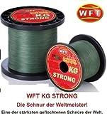 WFT KG STRONG Schnur geflochtene 600m 0,25mm 39kg, Farbe:Grün