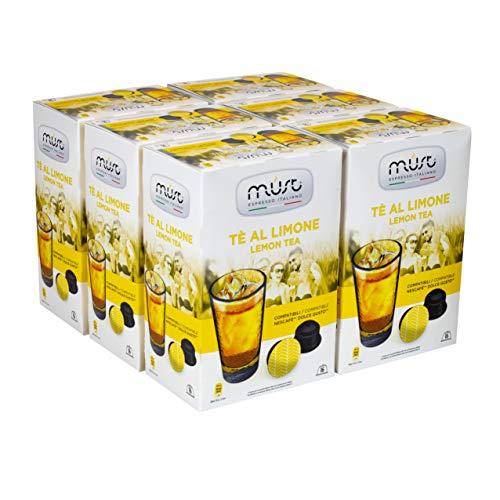 Must Espresso Italiano 96 Capsule Compatibili Dolce Gusto Tè al Limone - 6 confezioni da 16 capsule