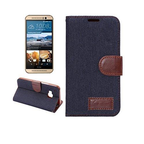 htc-one-m9-pure-black-premium-denim-magnetic-flip-tpu-denim-leather-wallet-flip-card-slot-stand-cove