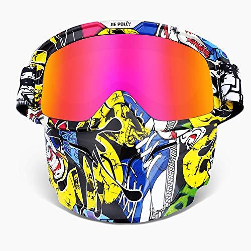 WLZP Motocicleta Gafas Máscara desmontable